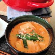 やみつきスープの豆乳味噌スープチゲ//COOKPADカテゴリ掲載【豆乳鍋】