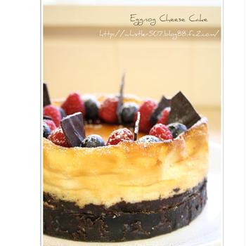 つくれぽ*エッグノッグチーズケーキ