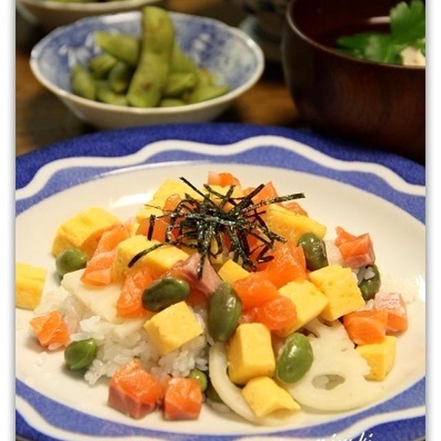 丹波黒枝豆でちらし寿司 くらしのアンテナ掲載☆アジアンご飯