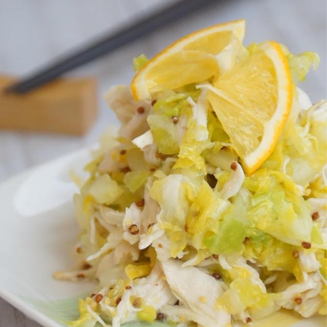 美肌レシピ!抱えて食べたい!「春キャベツとささみのおかずサラダ」
