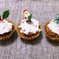 チョコのクリスマス・カップケーキ