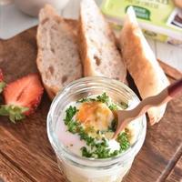 クリームチーズ入り♪温泉卵で簡単!エッグスラット
