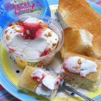 朝食にもおすすめ、こんがりトーストにサクレ・デ・スイーツ。