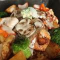 根菜とチキンの和風チーズソース