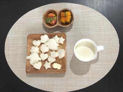 【幼児食】4/24のまとめ☆里芋と野菜の煮物&ハンバーグ&おひたし