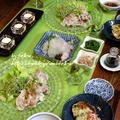 ◆冷しゃぶサラダにヒラメの刺身♪~ゆるやか糖質制限中♪