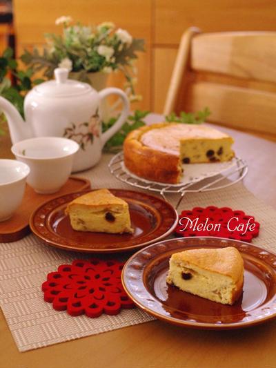 ホットケーキミックスでつくる、簡単バナナチーズケーキ☆バナナ・レーズン・牛乳使用