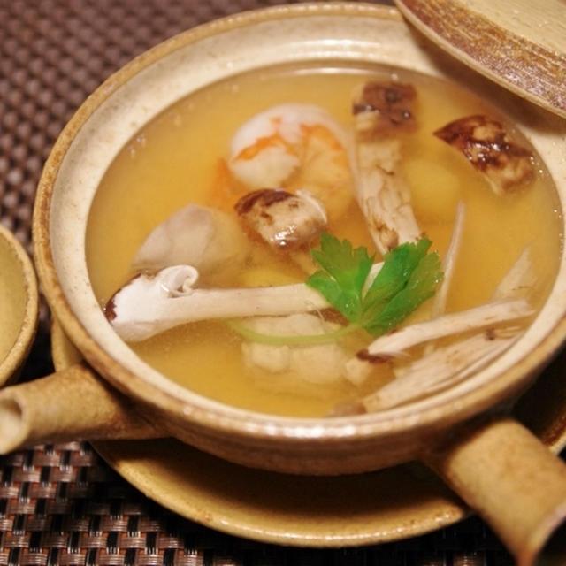 松茸の土瓶蒸し と 松茸のお浸し