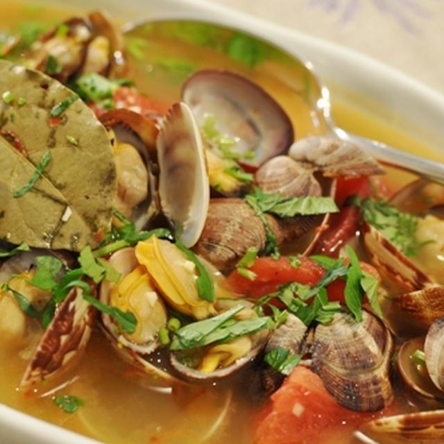 絶品スープ ★ あさりのサフランスープ
