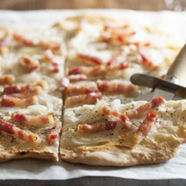 手作りフレッシュチーズで タルトフランベ