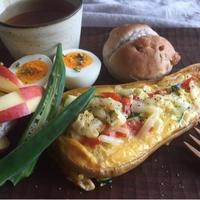バターナッツかぼちゃと野菜のカルボナーラ仕立て