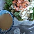 【ヘルシー】鮭と豆腐のサラダ&ごまだれドレッシング