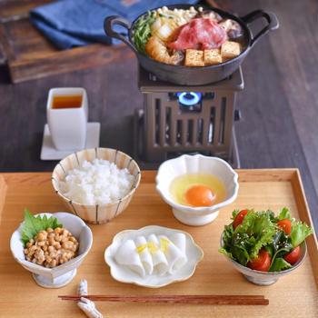 すき焼きの朝ごはんと ✽ ちや子さんのお茶漬け