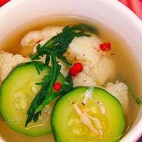★ズッキーニとカリフラワーのちょいピリ辛韓国スープ。