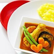 スープカレーとサフランライス