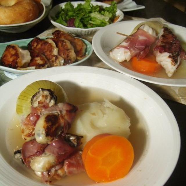 まるごとじゃがいもがほくほく あったか♪ポトフ 鱈&牡蠣のプロシュート巻添え