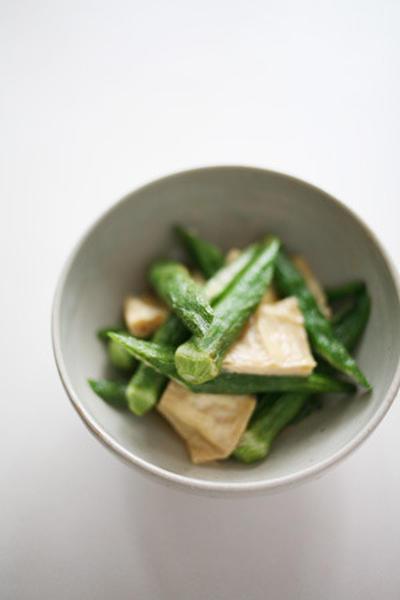 おくらと湯葉のお浸し おくらと湯葉のお浸し by まゆみさん | レシピブログ - 料理ブログの