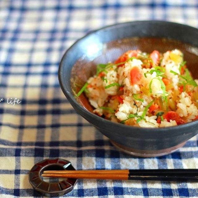春の香り〜蕗と鮭の混ぜご飯〜