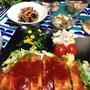 豚ロース肉のコクうまソース♡ご飯も野菜もすすむよ〜‼︎…食事の大切さ