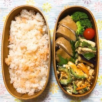 20170809鶏の照り煮弁当