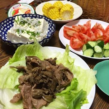 牛肉と舞茸の甘辛炒め☆