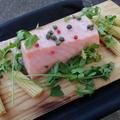 【BBQ】Wood Plank(ウッドプランク)で作るサーモンのグリル。刺身用だからミキュイでもいける。