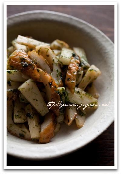 長芋と竹輪の炒め物