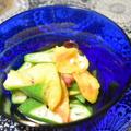 花オクラとオクラの酢の物。繊細な旬の味。