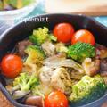 スキレットで牡蠣のアヒージョ by アップルミントさん
