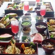 ■お盆のおもてなしランチ【けんちんつけ蕎麦・掻き揚げ付き/ノンフライ鮎他】