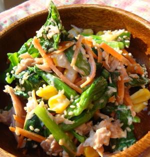*小松菜のサラダ*