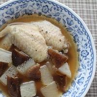 鶏手羽肉の生姜スープ
