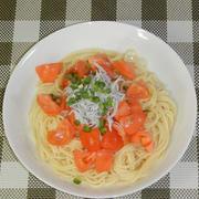 しらすとトマトの和風冷製パスタ