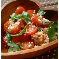 手づくりカッテージチーズでトマトサラダ