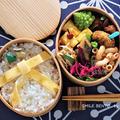 リボンのお弁当2種類、試作。<キャラ弁> by となりんりんさん