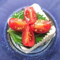 1分で簡単豆腐に青じそとプチトマトのせ(ダイエット)