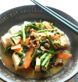 豆腐とニラのオイスター味噌炒め☆