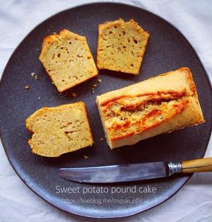 ♡混ぜて焼くだけ♡さつまいものパウンドケーキ♡【#簡単#お菓子#レシピ】