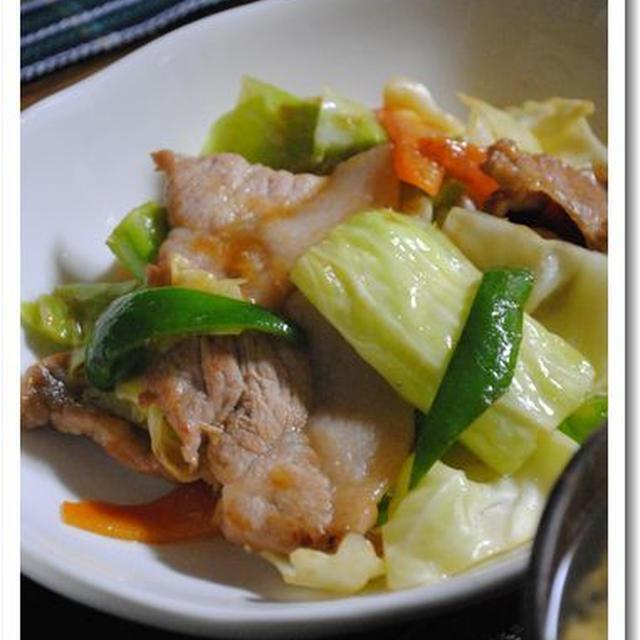 晩ごはん*回鍋肉と春雨サラダ