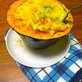【レシピ】ナツメグでカンタン!生クリームなし豆乳のパンプキンカレーグラタン!