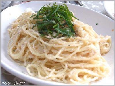 明太子のクリームスパゲッティ