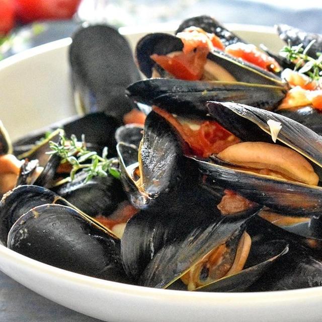 ムール貝のグアツェット(トマトソース蒸し)