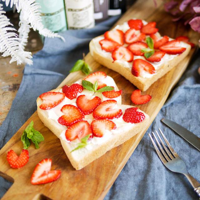 元気な気持ちになれる♪ハニーなイチゴでキュン♡可愛くて美味しい【桜模様のイチゴトース】ト