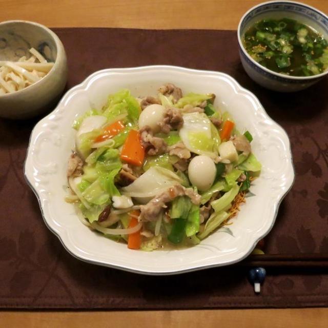 長崎皿うどんの晩ご飯 と コンビニスイーツをゴチ!