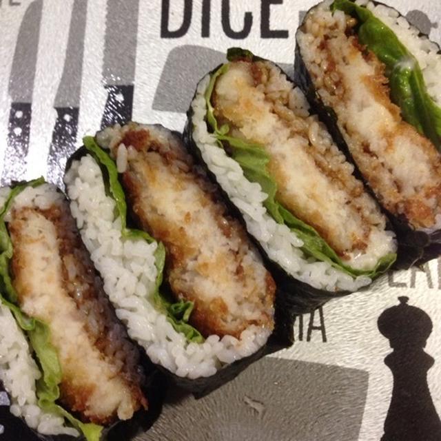 余ったお惣菜を活用♡ 「コロッケおにぎらず」(折り紙包み)& セリア購入品(追記)