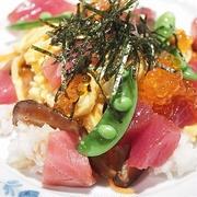 ちらし寿司マグロのっけ♪