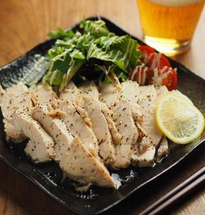 鶏むね肉の塩レモン蒸し、鶏むね肉を最速で美味しく料理します!
