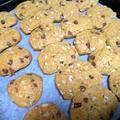 HMで簡単!チョコとクルミのクッキー