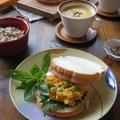 バターナッツかぼちゃのポタージュとサラダでランチ♪ by カシュカシュさん