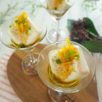 【レシピ】わさび醤油オイルで豆腐のカクテルサラダ